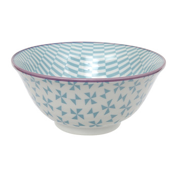 Geo Eclectic Tayo Bowl - Petrol