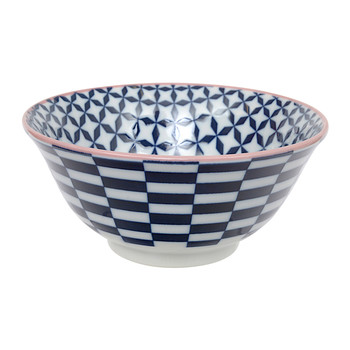 Geo Eclectic Tayo Bowl - Dark Blue
