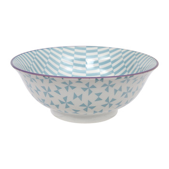 Large Geo Eclectic Bowl - Petrol