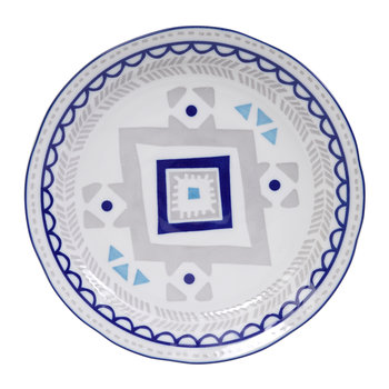 Ethnic Plate - Grey/Blue