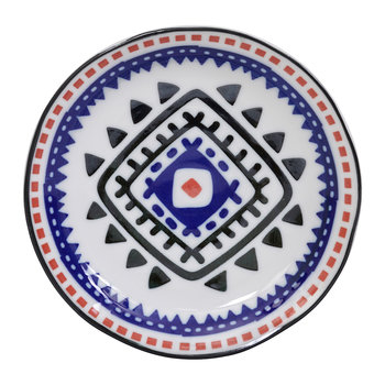 Ethnic Plate - Black/Blue