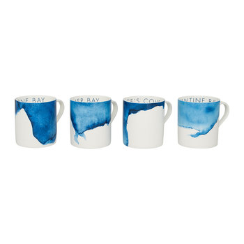 Coves of Cornwall Mug - Set of 4 - Harlyn Bay