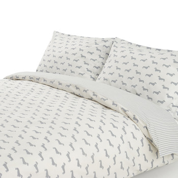 Dachshund Gray Duvet Set