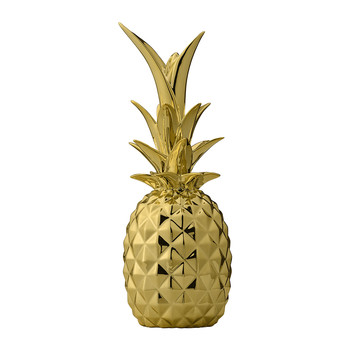 Decorative Pineapple Ornament - Gold