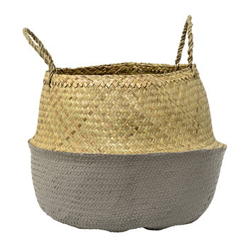 Grey Seagrass Basket