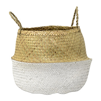 White Seagrass Basket - Large