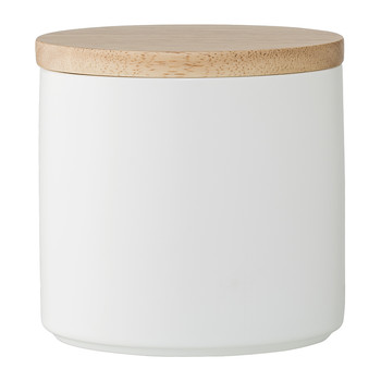 Porcelain Jar with Lid - White