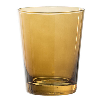 Brown Glass Bathroom Tumbler