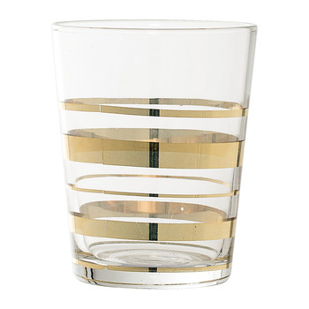Gold Glass Bathroom Tumbler