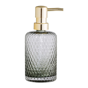 Grey Glass Soap Dispenser
