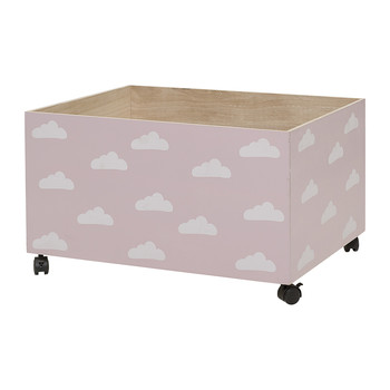 Storage Box with Wheels - Rose