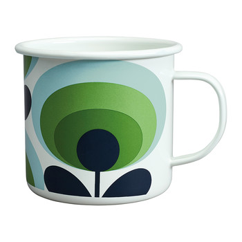 70s Flower Enamel Mug - Apple