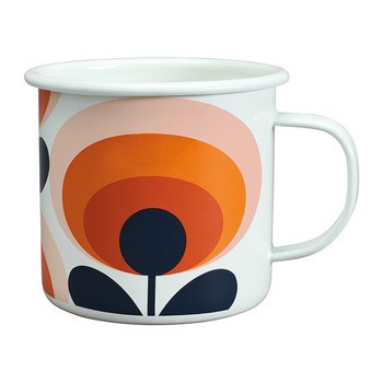 70s Flower Emaille-Becher - Persimone