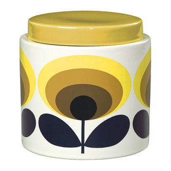 70s Oval Storage Jar - 1L - Yellow