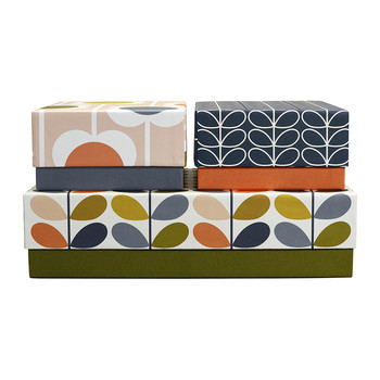 Set of 3 Storage Boxes - Flowers