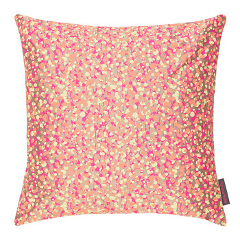 Garland Cushion - 45x45cm - Pebble/Neon Lemon/Coral