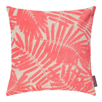 Espinillo Cushion - 45x45cm - Natural Linen/Coral