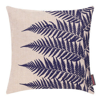 Lady Fern Cushion - 45x45cm - Natural Linen/Ink