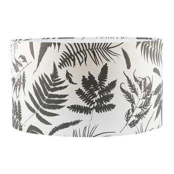 Scattered Fern Lamp Shade - White/Storm