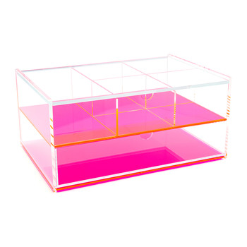Flash Blocco Acrylic Box - Neon Pink