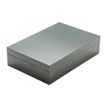 Luxe Box with Compartments - Gunmetal