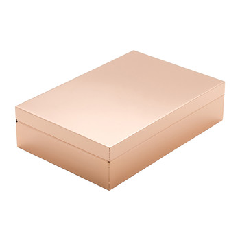 Luxe Box with Compartments - Rose Gold