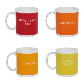 Ceramic Mug - Set of 4 - Sunset