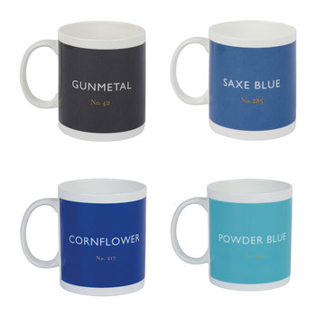 Ceramic Mug - Set of 4 - Ocean
