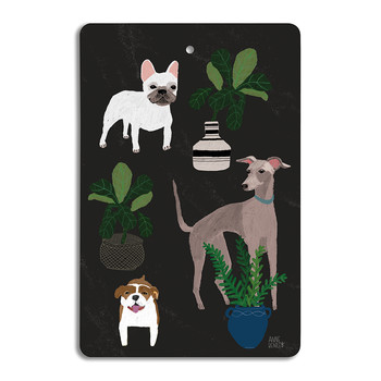 Annie Bentley - Cats & Dogs Chopping Board - Dog