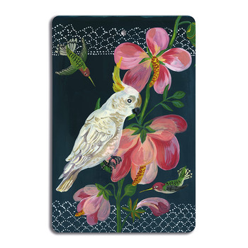 Nathalie Lété - Antique Cutting Board - White Parrot