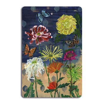 Nathalie Lété - Antique Cutting Board - Chrysanthemums