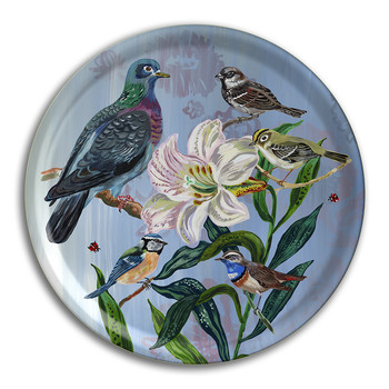 Nathalie Lété - Birds in the Dunes Round Tray - Dove