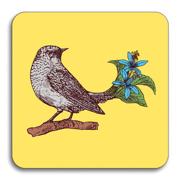 Puddin' Head - Bird Coaster - Pewee