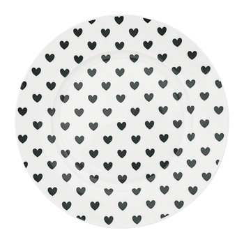 Black Hearts Plate