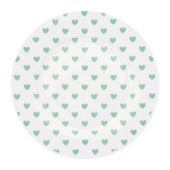 Green Hearts Plate