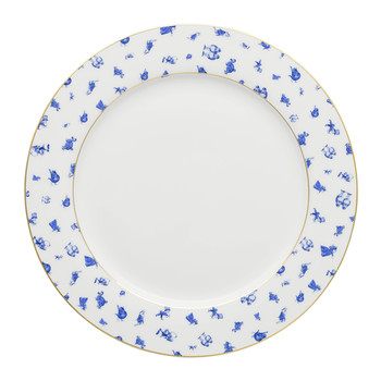 Alice Chintz White Plate with Gold Trim