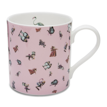 Alice Flamingo Chintz Mug - Pink