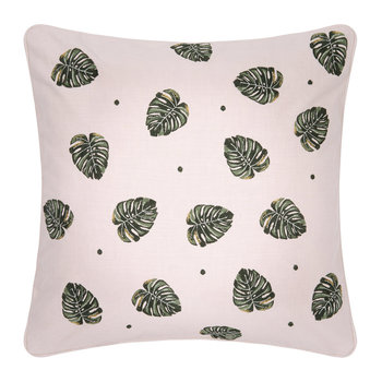 Jungle Leaf Cushion - 45x45cm - Rose