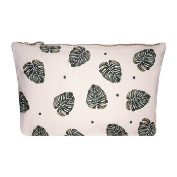 Jungle Leaf Travel Pouch - Rose