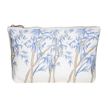 Bambou Wash/Clutch Bag - White