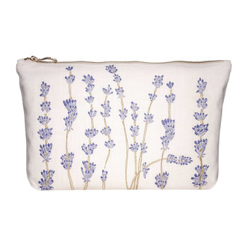 Lavandou Wash/Clutch Bag - Parchment