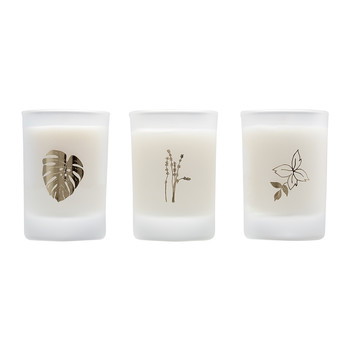 Natural Beauty Mini Candles - Set of 3