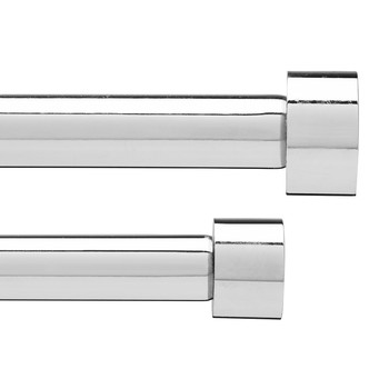 Cappa Double Curtain Pole - Chrome