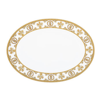 I Love Baroque Platter - White