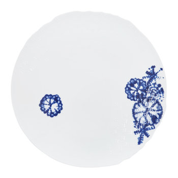Shibori Blue Landscape Serving Plate