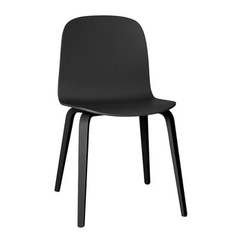 Visu Chair - Wood Base - Black