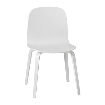 Visu Chair - Wood Base - White