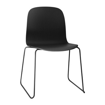 Visu Chair - Sled Base - Black