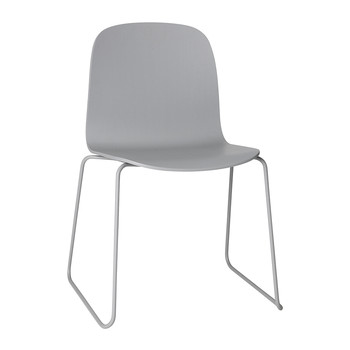 Visu Chair - Sled Base - Grey