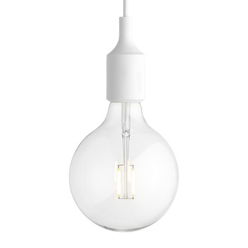 Muuto - Lampe Suspension E27 - Blanc